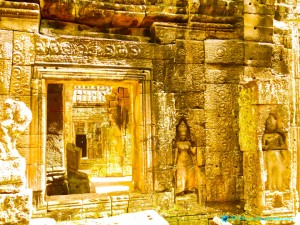 Light-filled image of Banteay Kdei temple, Siem Reap, Cambodia