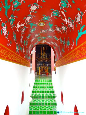 Colourful detail of monastic temple, Chiang Mai, Thailand