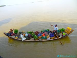 Irawaddy River life; on the slowboat from Mandalay, Myanmar